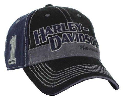 Harley-Davidson Men'S Block H-D Name Baseball Cap Bc10389