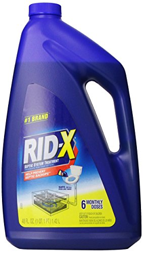 Rid X Septic Tank System Treatment Liquid 6 Dose 48