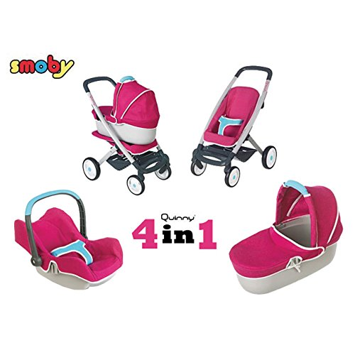 Smoby Quinny 4-in-1 Multifunktions-Puppenwagen