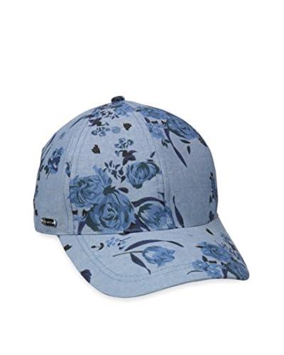 Steve Madden Women's Athena Denim Rose Baseball Cap, Blue