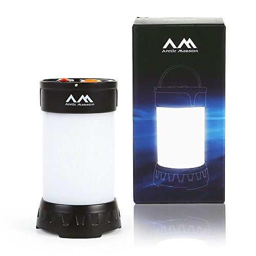 Arctic Monsoon Camping Lantern, Portable and Ultra Bright 350 Lumens LED light Tent Lamp