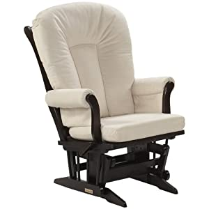 Dutailier Ultramotion Espresso Sleigh Multiposition and Recliner Glider Rocker,
