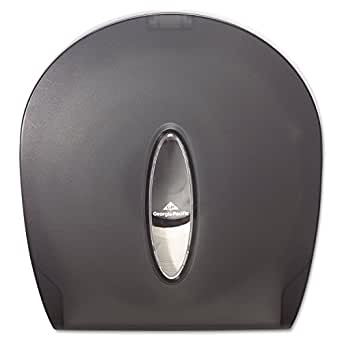 "Georgia-Pacific GP 59009 Translucent Smoke Jumbo Jr. Bathroom Tissue Dispenser, 10.61"" Width x 11.29"" Height x 5.39"" Depth"