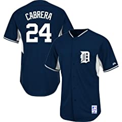 Miguel Cabrera #24 Detroit Tigers MLB Youth Cool Base Batting Practice Jersey