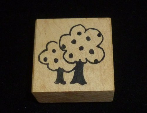 Apple Tree Rubber Stamp - 1