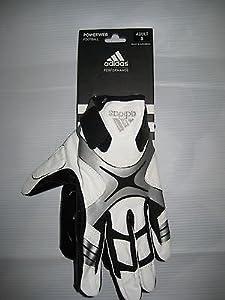Buy Adidas Powerweb Football Reciever Gloves White XL by adidas