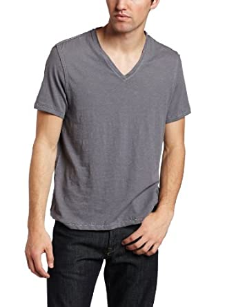 Converse By John Varvatos Men's Binded Short Sleeve V-Neck Shirt, Blue Stone, XX-Large