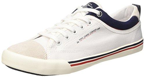 Pepe JeansBritt Piping - Scarpe da Ginnastica Basse Uomo , Bianco (Blanc (800 White)), 41