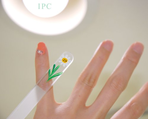 『ネイルファイル(爪磨き)ネイリスト御用達「ファイナリスト」 プロネイリストが自分で使いたいNo1爪磨き 仕上げ用細かい目 軽い割れにくいチェコクリスタルグラス製一生モノ』