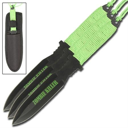 Critical Hit Zombie Killer 3 Piece Throwing Knives