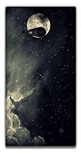 The Racoon Lean printed designer hard back mobile phone case cover for Nokia Lumia 730. (Sky Full o)