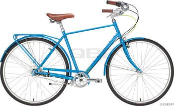 Civia Twin City XL 5-Speed Sky Blue Step-Over with Rack & Fenders