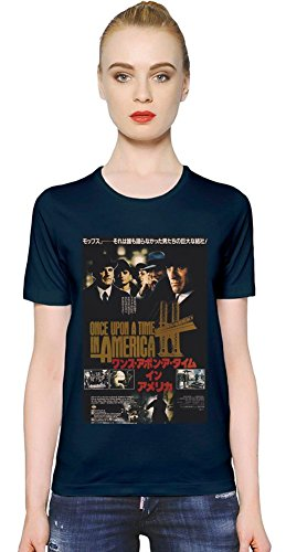 Once Upon A Time In America Poster T-shirt donna Women T-Shirt Girl Ladies Stylish Fashion Fit Custom Apparel By Slick Stuff Medium