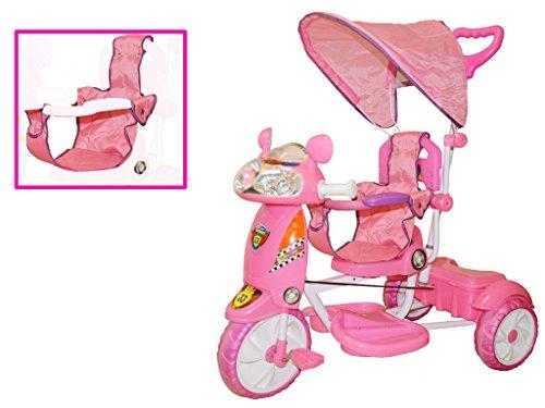 Triciclo per bambini motosprint girl con cappottina regolabile