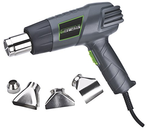 Genesis GHG1500A Dual Temperature Heat Gun Kit, Grey