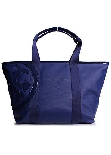 Tory Burch Small Beach Canvas Tote in Bright Navy