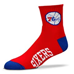 Philadelphia 76Ers Team Logo Quarter Sock by For Bare Feet