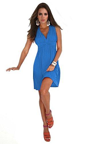 Charm Your Prince Women's Sleeveless Summer Blue Sundress L