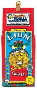 Lion Coffee Ground Vanilla Macadamia 4 Bags - Bonus - 8 Bags Of Hawaiian Tropical Tea