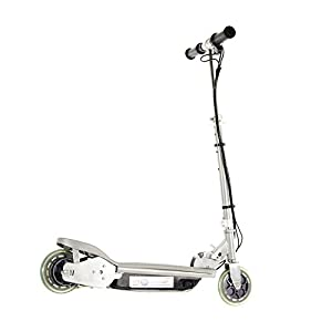 Airwave Electric Scooter, Ride on Electric Scooter, E-Scooter, Modern Design Footplate - Silver