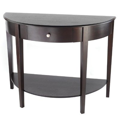 Deal finder collection moonround espresso - Half moon entry tables ...