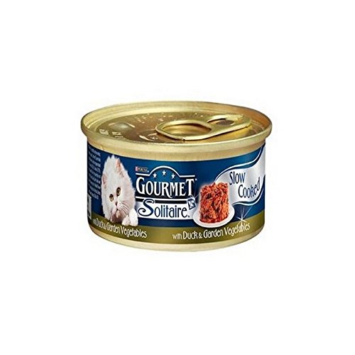 Gourmet Solitaire Cat Food with Duck and Vegetables Tin (85g)