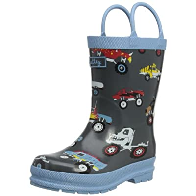 Hatley Monster Trucks Boys Children's Rubber Wellington Boots