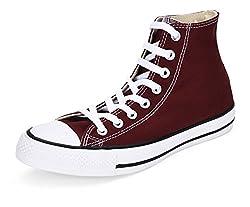 Converse Unisex Maroon Canvas Sneakers - 10 UK