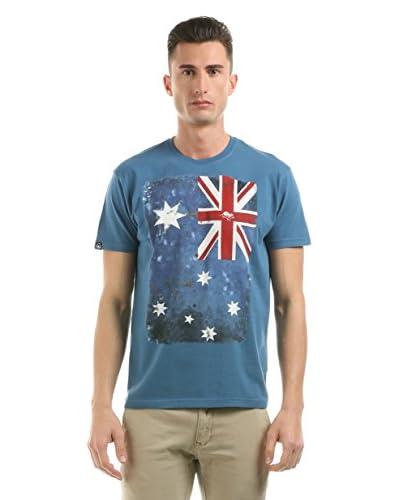 Hot Buttered T-Shirt Manica Corta Flag [Blu Chiaro]