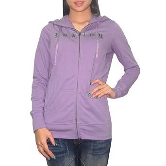 Oakley Womens Surf & Skate Zip-Up Hoodie Medium Purple