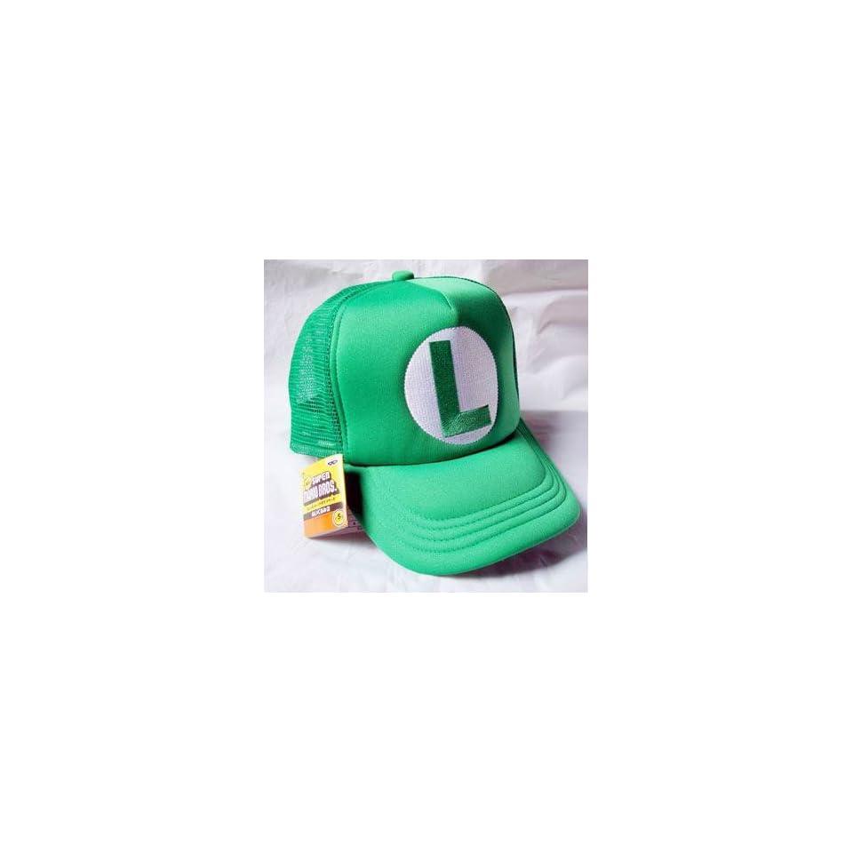 Mario Bro Trucker Hat   Green Luigi