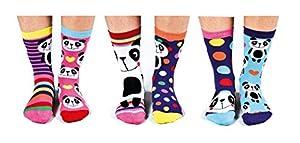 Verrückte Socken Oddsocks Pandamonium für Mädchen im 6er Set