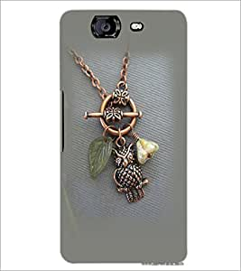 PrintDhaba Owl Pendant D-2384 Back Case Cover for MICROMAX A350 CANVAS KNIGHT (Multi-Coloured)