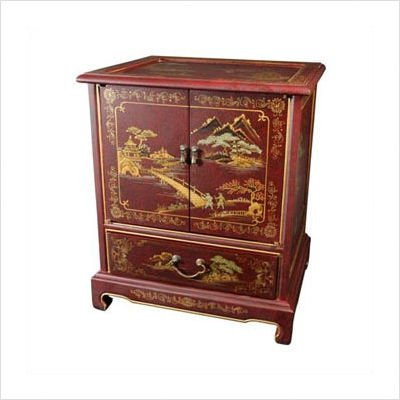 Japanese End Table Color: Black Mother of Pearl Design