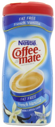Coffee Mate French Vanilla Fat Free Powdered Creamer 15 Ounce Packages