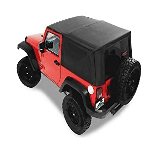 Pavement Ends by Bestop 51201-35 Black Diamond Replay(TM) Replacement Soft Top Tinted Windows-No door skins included-No frame hardware included- 2007-2009 Jeep Wrangler Unlimited