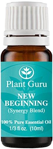 New Beginning Synergy Essential Oil Blend 10 ml. 100% Pure, Undiluted, Therapeutic Grade. (Blend Of: Sweet Orange, Lemon, Spanish Rosemary, Frankincense, Tea Tree, Eucalyptus)