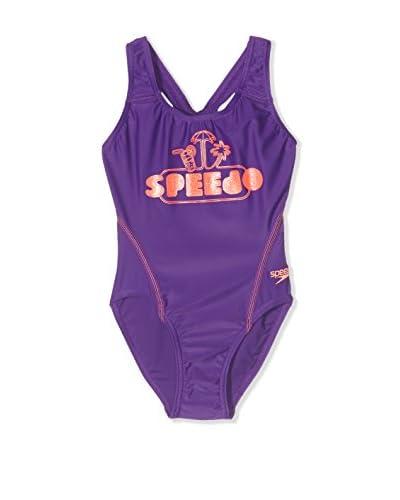 Speedo Badeanzug Logo Plmt Spbk Jf