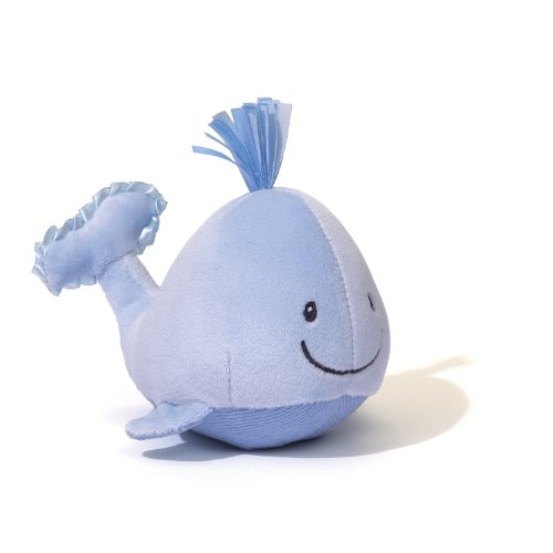 "Gund Baby Sleepy Seas Rattle, Blue Whale, 4"" - 1"