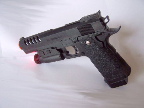 New Xk918a Airsoft Spring Pistol Gun 1/1 Full Scale with Working Safety,laser & Starter Pack of Bb's 240 FPS