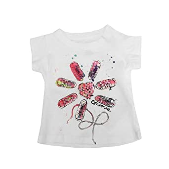 CONVERSE Flower Print Infant Baby Girls T-Shirt, 9-12 Month