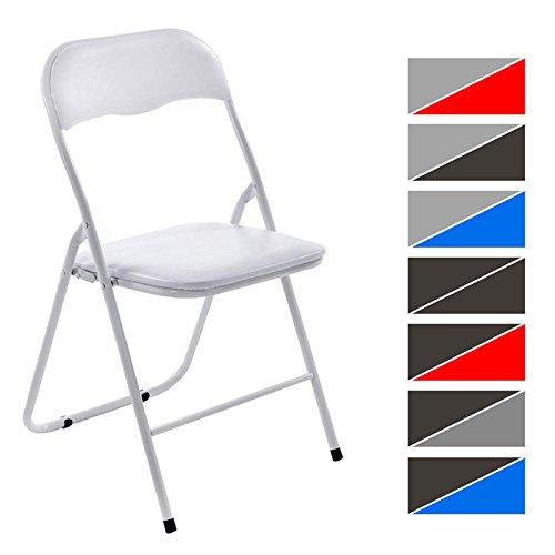 CLP-Kchen-Klappstuhl-FELIX-Faltstuhl-mit-Metallgestell-Kunststoff-Sitz-gepolstert-praktischer-Gstestuhl-8-FARBEN-whlbar-weiwei