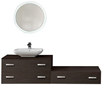 Moores SP2BSET Double and Single Drawer Washstation Set - Bali/ Truffle Brown