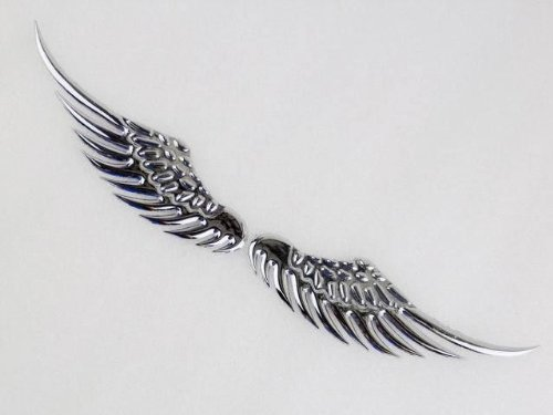 Chrome 3D Metal Eagle Wing Emblem Marker Decal Badge Sticker for Harley (Harley Metal Emblem Sticker compare prices)
