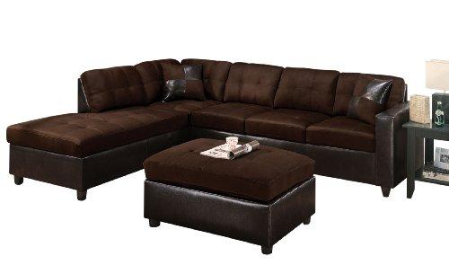 Leather Sofa ACME 10100 Milano Left Facing Sectional Sofa