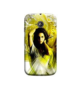 Ebby Premium Printed Back Case Cover With Full protection For Motorola Moto E2 (Designer Case)