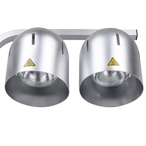 yescom commercial food heat lamp dual bulb countertop buffet food. Black Bedroom Furniture Sets. Home Design Ideas