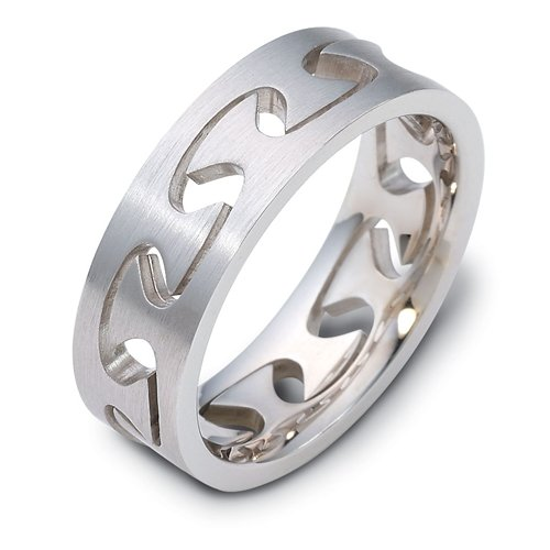 Sterling Silver, Puzzle Ring 6MM Band (sz 6.5)