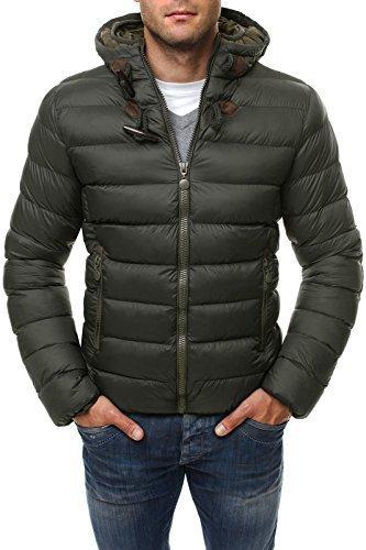 Giacca da uomo invernale giacca OZONEE Stepp giacca con cappuccio Parka STEGOL 123