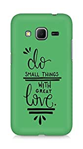 AMEZ do great things with love Back Cover For Samsung Galaxy Core Prime